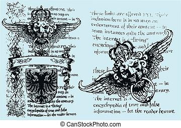 real, heraldic, emblema, leão