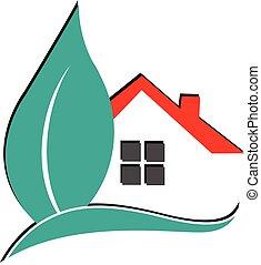 real, logotipo, propriedade, casa