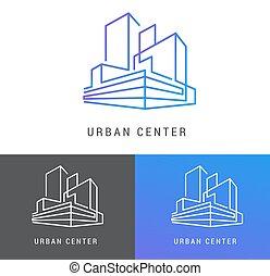 real, predios, propriedade, desenvolvimento, elemento, logotipo, ícone