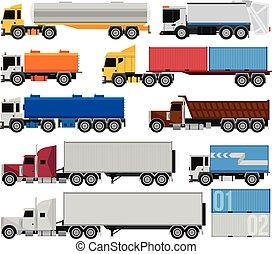 reboques, caminhões