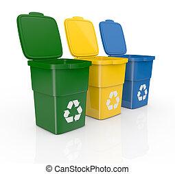 reciclagem, caixas