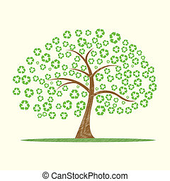 recicle, árvore