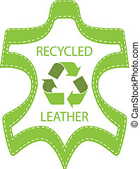 recicle, couro, lable