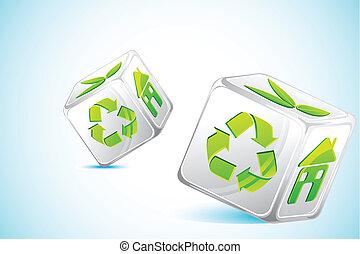 recicle, dados