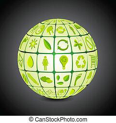 recicle, globo