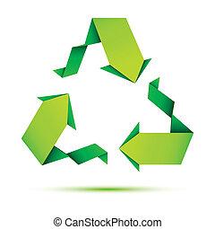 recicle, origami