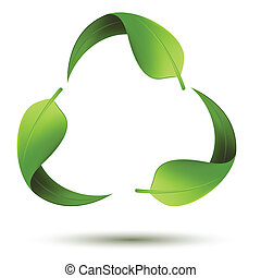 recicle símbolo, folha