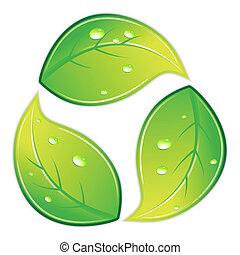 recicle símbolo, frondoso