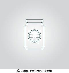 recipiente, médico