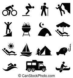 recreação, ao ar livre, lazer, ícones