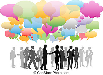 rede, negócio, mídia, companhia, fala, social, bolhas