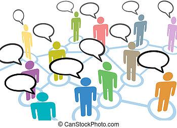 rede, pessoas, comunicação, conexões, fala, social, conversa