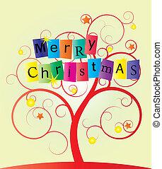 redemoinho, árvore, natal