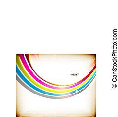 redemoinho, arco íris, abstratos, coloridos, fundo