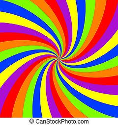 redemoinho, arco íris, padrão