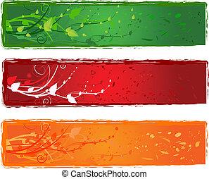 redemoinho, bandeira, desenho, três