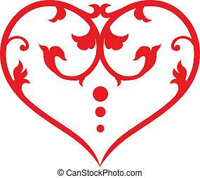 redemoinho, coração