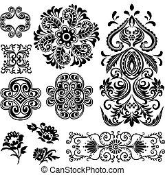 redemoinho, projeto floral, fantasia, padrão