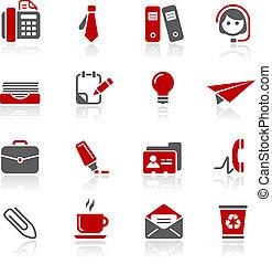 redico, escritório, negócio, &, ícones, /
