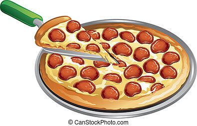 refeição, pizza