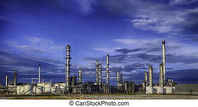 refinaria, indústria, óleo