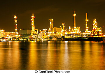 refinaria, planta, óleo