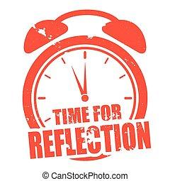 reflexão, tempo
