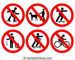 regras, parque, sinais