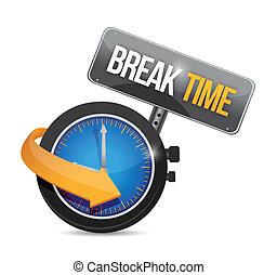 relógio, ilustração, sinal, partir, desenho, tempo