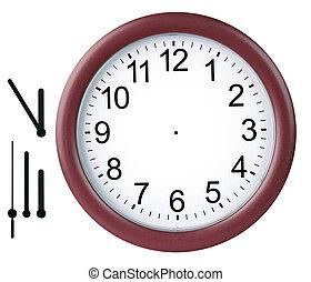 relógio, isolado, redondo