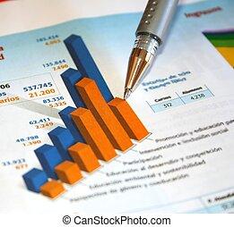 relatório, contabilidade