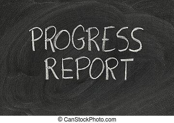 relatório, progresso