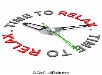 relaxamento, tempo