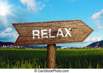 relaxe, sinal estrada