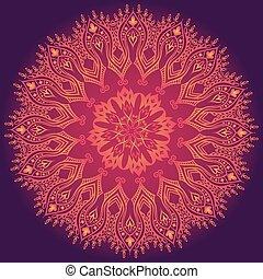 renda, roxo, padrão, abstratos, ornamento, floral