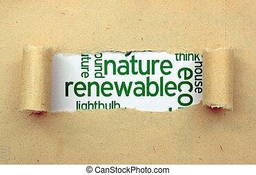 renovável, natureza