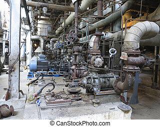 reparar, industrial, elétrico, dirigindo, motores, bombas água, durante
