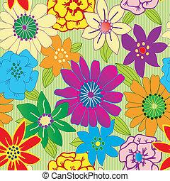 repetindo, flor, coloridos, seamless, fundo