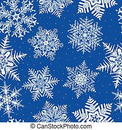 repetindo, seamless, fundo, snowflake