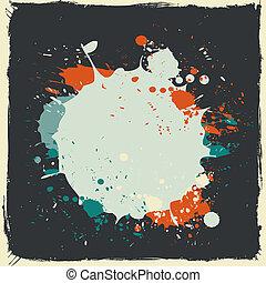 respingo tinta, vetorial, grunge, coloridos