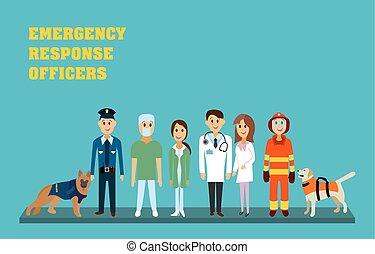 resposta, emergência, oficiais