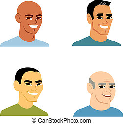 retrato, caricatura, homem, avatar, 4