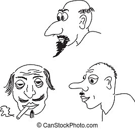 retratos, caricatura