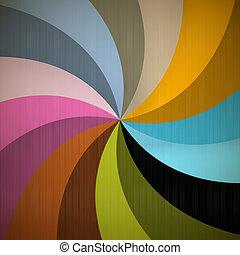 retro, fundo, espiral