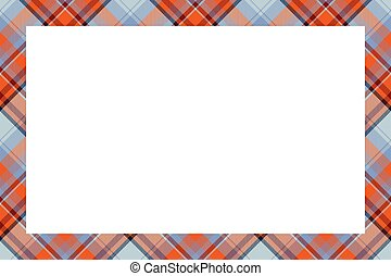 retro, ornament., borda, xadrez, vector., vindima, padrão, style., tartan, escocês, quadro