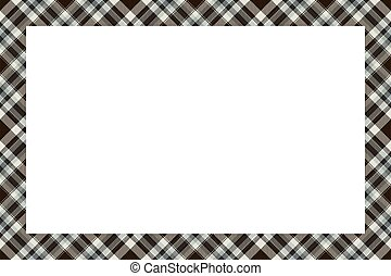 retro, tartan, quadro, escocês, vindima, style., ornament., padrão, borda, xadrez, vector.