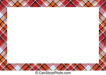 retro, tartan, style., vector., borda, padrão, escocês, ornament., quadro, vindima, xadrez