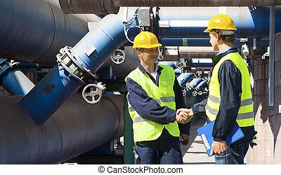 reunião, engenheiros