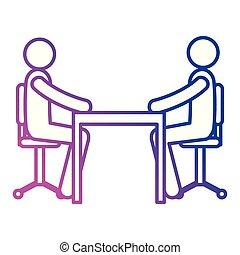 reunião, escritório, pessoas negócio