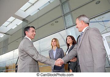 reunião, exibição, pessoas negócio